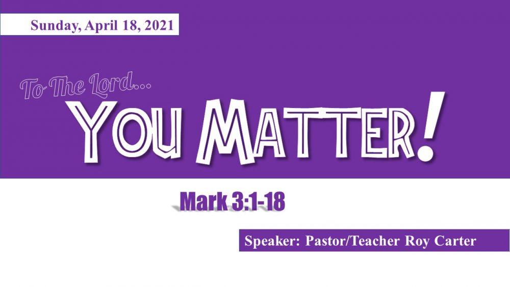 You Matter to Jesus! Image
